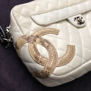 CHANEL Bags - ✨VINTAGE✨CHANEL Cambon Python Quilted Camera Bag